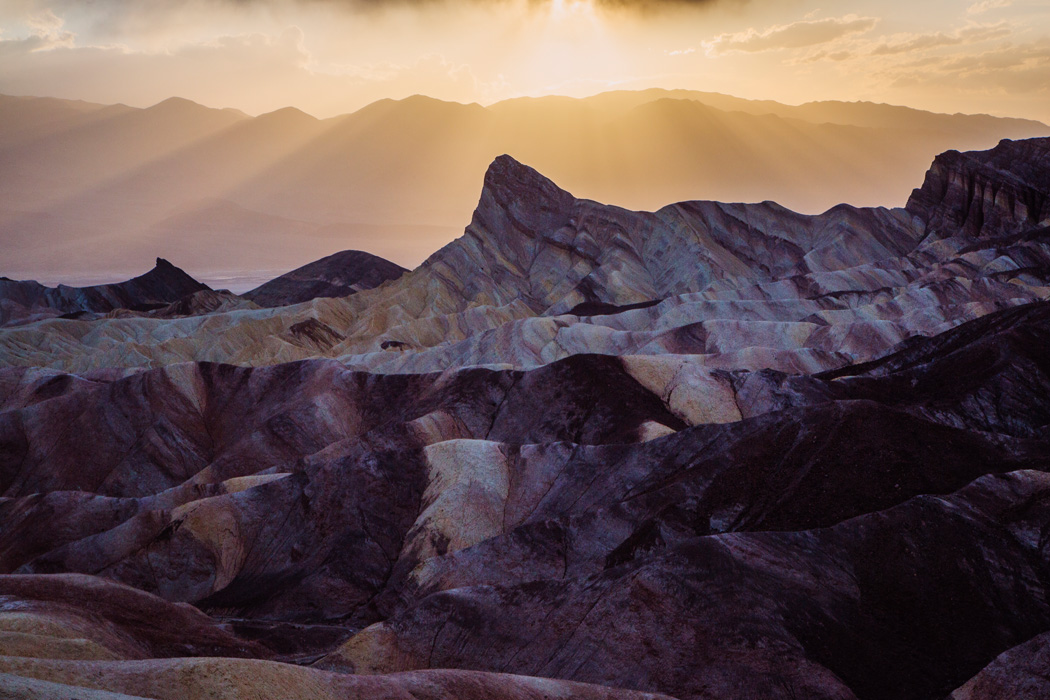 A view from the Zabriskie Point in Death Valley National Park, on Thursday, May 7, 2015.