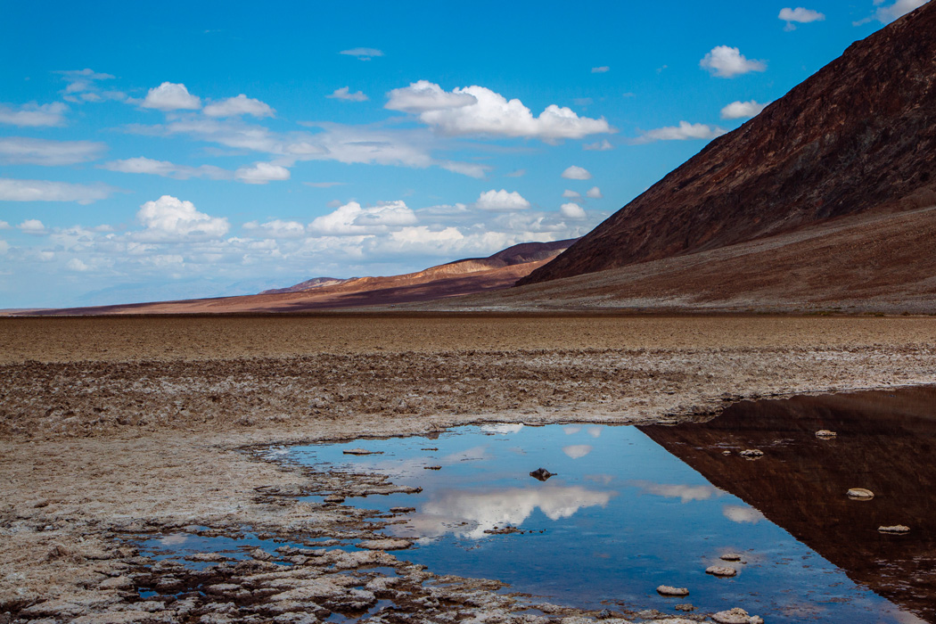 A view from Badwater Basin in Death Valley National Park, on Friday, May 8, 2015.