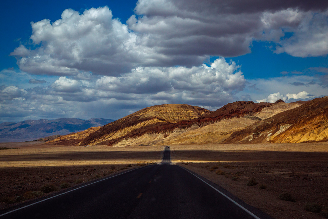 A view of the road in Death Valley National Park, on Friday, May 8, 2015.