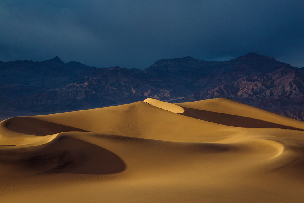 A view of the Mesquite Flats Sand Dunes near Stovepipe Wells Village, on Friday, May 8, 2015.