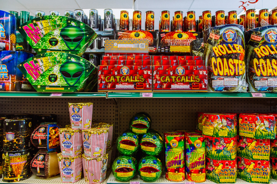 A view inside the Area Fireworks Superstore in Pahrump, NV, on Saturday, May 9, 2015.